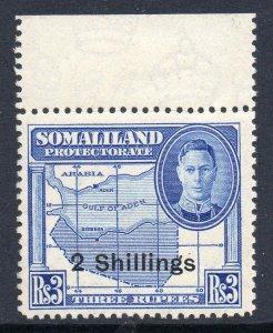 Somaliland 1951 KGVI 2/- on 3R SG 134 mint