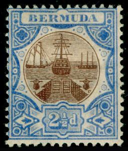 BERMUDA SG40, 2½d Brown & Ultramarine, M MINT. Cat £32.