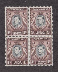 Kenya, Uganda & Tanganyika Scott #66 MNH Block of 4