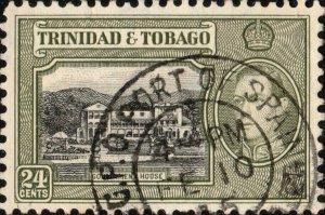 TRINIDAD & TOBAGO - 1945 G.P.O. PORT OF SPAIN/TRINIDAD CDS on SG253 - Ref.832q
