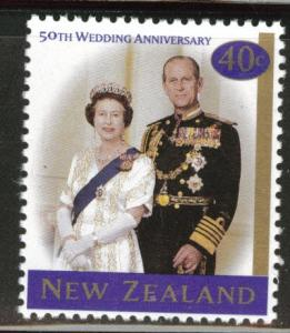 New Zealand Scott 1471 1997 QE2 & Prince Philip 50th CV$0.60
