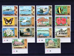 Kiribati 1980 Fauna Definitives UNWMK (14v)Perforated mnh.vf