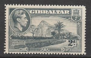 GIBRALTAR 1938 KGVI THE ROCK 2D PERF 14