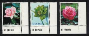 Norfolk Roses 3v Bottom Right Corners SG#703-705 SC#683-685