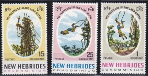New Hebrides - British Issues 135-137 MNH (1969)