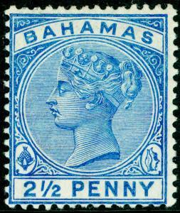 BAHAMAS SG51, 2½d blue, LH MINT. Cat £42.