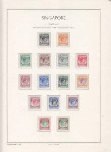 SINGAPORE, 1948 KGVI perf. 14, set of 15, lhm.