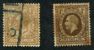 Great Britain SC# 172, 172a George V 1sh