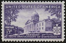 SCOTT # 903 VERMONT STATEHOOD GREAT COLOR AND CENTERING !! BEAUTIFUL!!