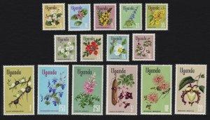 Uganda Flowers 15v SG#131-145