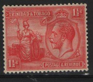 TRINIDAD & TOBAGO, 23, HINGED REMNANT,1922-28 Britannia and King Georg V