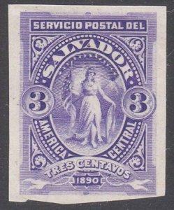 SALVADOR 1890 3c imperf proof..............................................G714