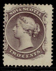 CANADA - Nova Scotia QV SG11, 2c grey-purple, M MINT. Cat £11.