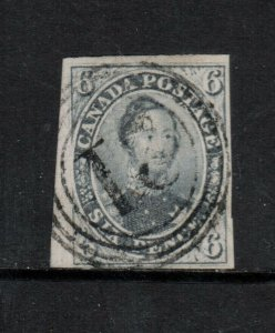 Canada #5 Very Fine Used With 4 Ring 21 Cancel **With Certificate**