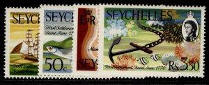 SEYCHELLES QEII SG280-283, complete set, NH MINT.