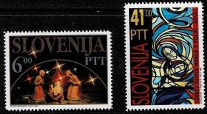 1992 Slovenia Scott Catalog Number 147-148 Unused No Gum
