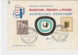 Berlin 1955 Dusseldorf 1 Slogan Cancels Broadcasting Special Stamps Card Rf26087