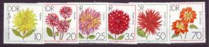 J19016 Jlstamps 1979 germany DDR set mnh #2022-7 flowers