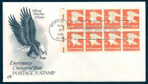 UNITED STATES FDC (15¢) 'A' Rate PANE 1978 ArtCraft