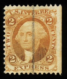 B318 U.S. Revenue Scott R10c 2-cent Express orange, used.