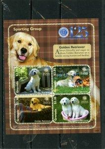 GRENADA 2009 Sc#3728 DOGS/GOLDEN RETRIEVER SHEET OF 4 STAMPS MNH