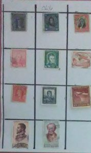 12 Valuable desirable stamps from Chile for only $1.00