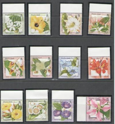 Pitcairn Is Sc 513-23 2000 Flowers long stamp set mint NH