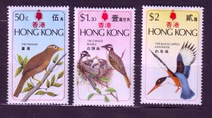 J23690 JLstamps 1975 hong kong set mh #309-11 birds