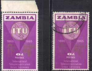 ZAMBIA SC# 18  **MINT&USED** 1965  4p   SEE SCAN