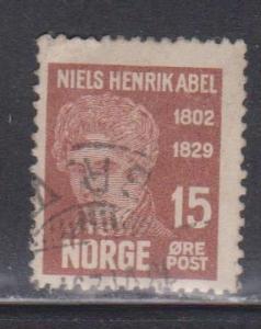 NORWAY Scott # 146 Used - Niels Henrik Abel
