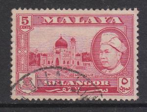 Malaya Selangor 1957 Sc 105 5c Used