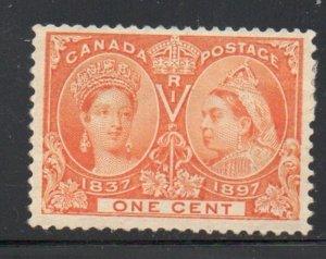 Canada Sc 51 1897 1 c orange Victoria Jubilee stamp mint