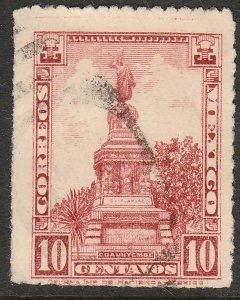 MEXICO 639, 10¢ CUAUHTEMOC MONUMENT Unwmk USED. F-VF. (389)
