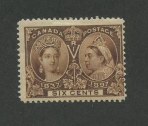 Queen Victoria 1897 Canada 6c Stamp #55 Scott Value $230
