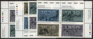Canada - 1989 38c Second World War Imprint Blocks #1263a