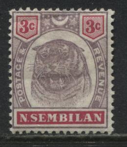 Negri Sembilan 1895 3 cents Tiger mint o.g.