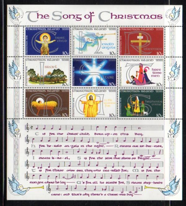 Christmas Island Sc 88 stamp sheet mint NH
