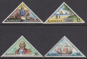 St Vincent 346-9 Christopher Columbus mnh