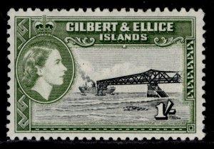 GILBERT AND ELLICE ISLANDS QEII SG71, 2½d black & olive-green, M MINT.
