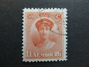 A4P27F80 Letzebuerg Luxembourg 1921-26 50c used