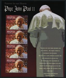 St Vincent Grenadines - Bequia 360 Sheet MNH Pope John Paul II