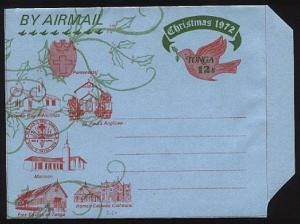 TONGA 1972 12s Christmas airletter unused - scarce...............93796
