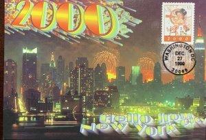 Hideaki Nakano 3369 New Millennium Post Card Hello from New York