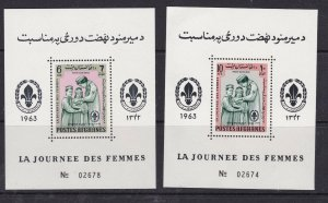 AFGHANISTAN^^^1963 sc# #668N-O x2  MNH Souv/sheets < GUIDES,SCOUTS >$$@ cam3831