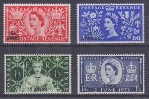 Oman Sc 52-55 MNH. 1953 QEII Coronation, complete set,  VF