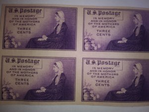 SCOTT # 754 BLOCK OF 4 NGAI IMPERFERATED MINT NEVER HINGED FREE SHIPPING IN USA!