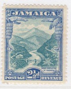 British Colony Jamaica 1932 2 1/2d Brown Wmk Mult Script CA MH* A22P19F8957