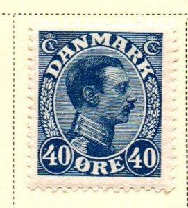 Denmark Sc 118 1922 40 ore dark blue Christian X  stamp mint