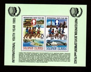 Solomon Islands 554a Mint NH MNH Souvenir Sheet Youth Year!