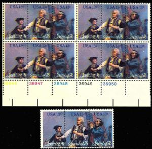 1631a Var, COLOR SHIFT PLATE BLOCK OF 12 - VF  NH
